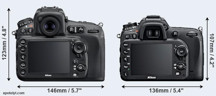 D810 and D7100 rear side