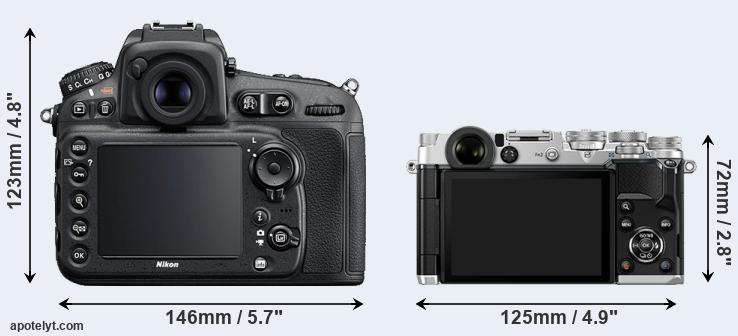 D810 and PEN-F rear side