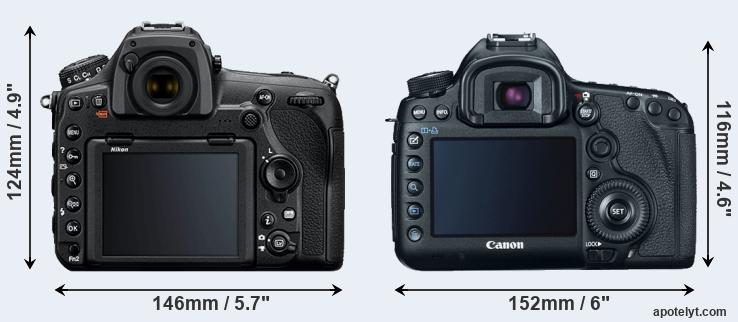 D850 and 5D Mark III rear side