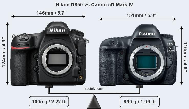 Compare Nikon D850 vs Canon 5D Mark IV