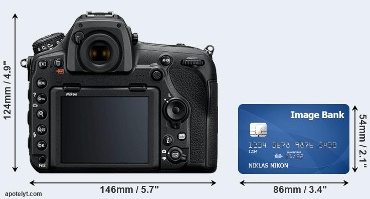D850 and credit card rear side