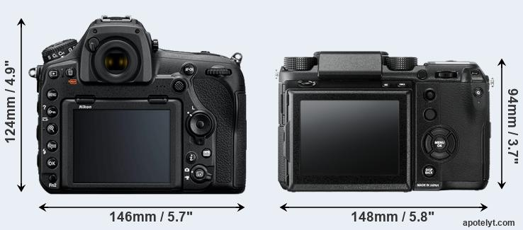 D850 and GFX rear side