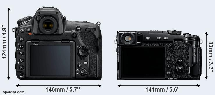 D850 and X-Pro2 rear side