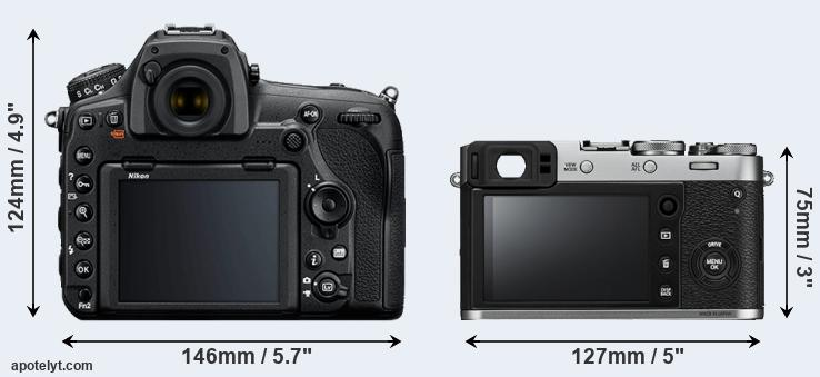 D850 and X100F rear side
