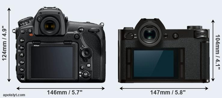D850 and SL rear side