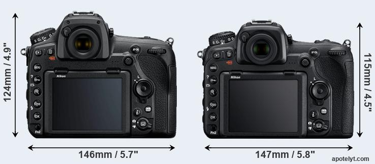 D850 and D500 rear side