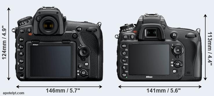 D850 and D610 rear side