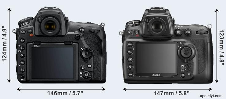 D850 and D700 rear side