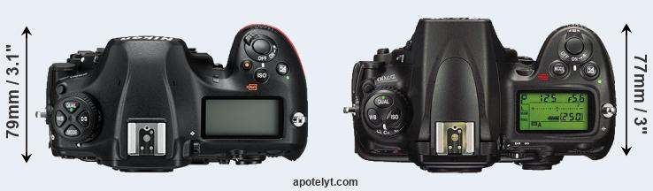 D850 versus D700 top view