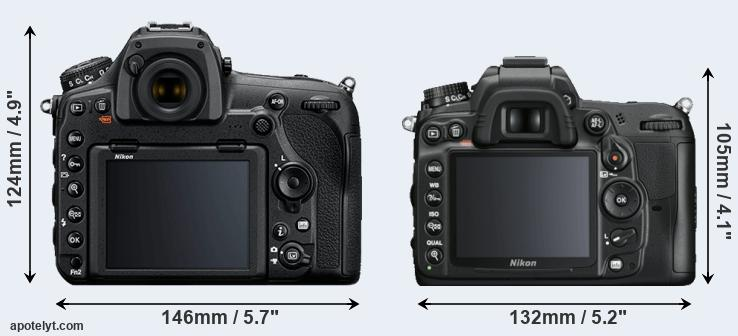 D850 and D7000 rear side