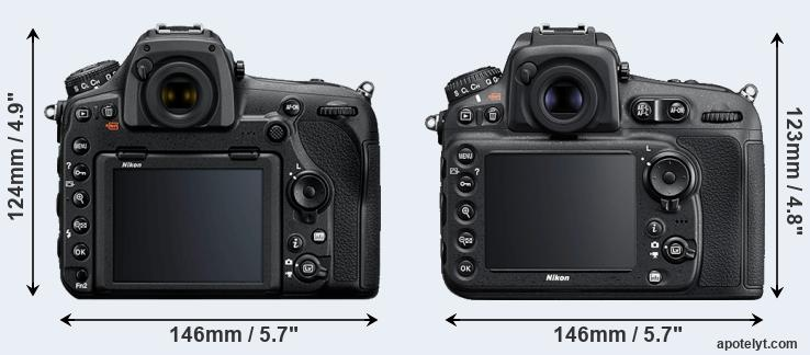 D850 and D810 rear side