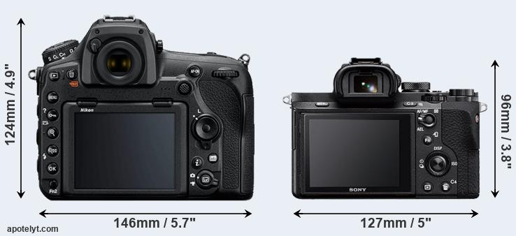 D850 and A7 II rear side