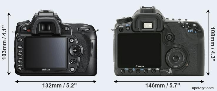 D90 and 40D rear side