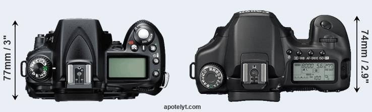 D90 versus 40D top view
