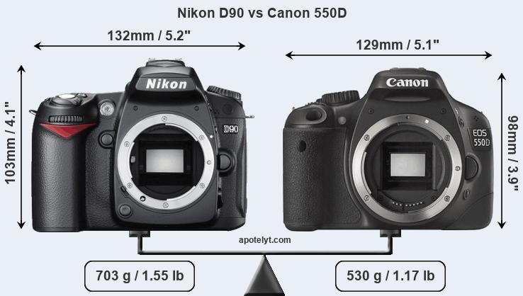 Compare Nikon D90 and Canon 550D