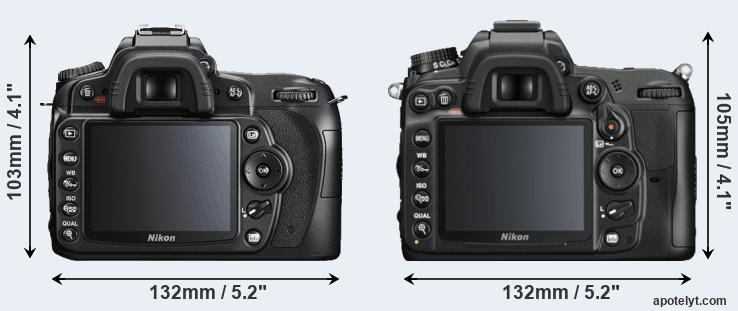 D90 and D7000 rear side