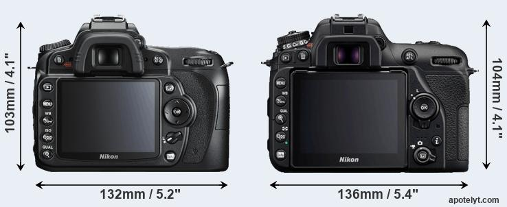 D90 and D7500 rear side