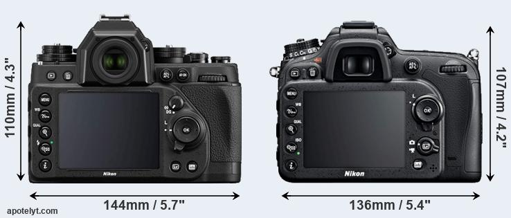 Df and D7100 rear side