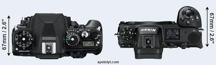 Nikon Df vs Nikon Z6 Comparison Review