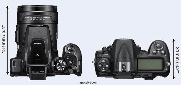 Nikon P900 vs Nikon D300S Comparison Review