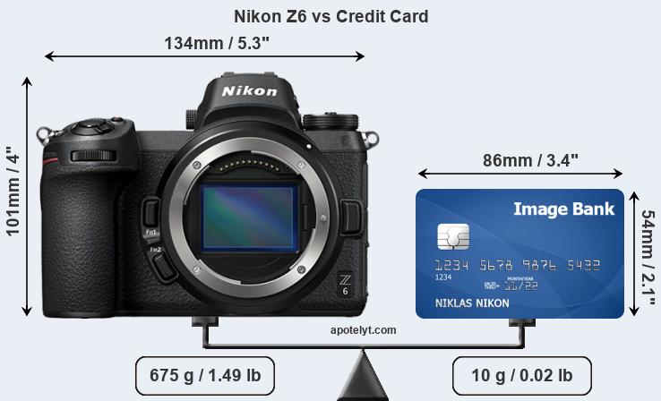 Nikon Z6 vs credit card front