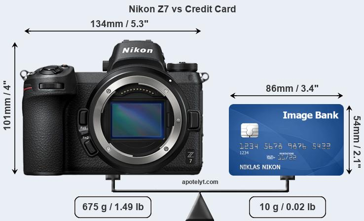 Nikon Z7 vs credit card front