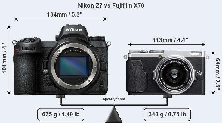Compare Nikon Z7 and Fujifilm X70