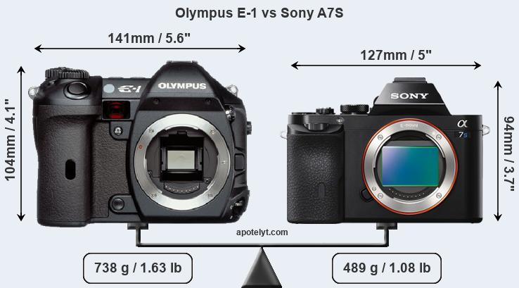 Olympus E-1 and Sony A7S sensor measures