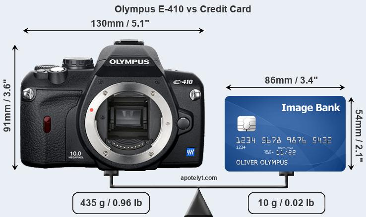 Olympus E-410 vs credit card front