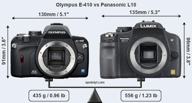 Compare Olympus E-410 and Panasonic L10