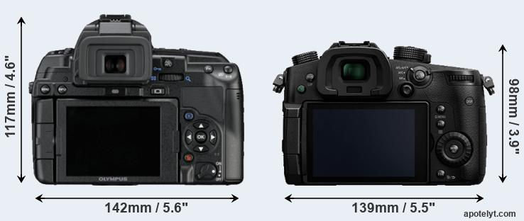 E-5 and GH5 rear side