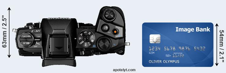 E-M1 versus credit card top view