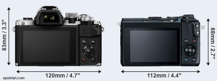 E-M10 II and M6 rear side