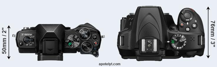 E-M10 III versus D3400 top view