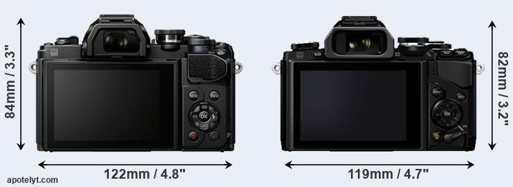 E-M10 III and E-M10 rear side
