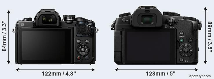 E-M10 III and G85 rear side