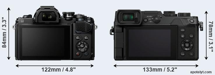 E-M10 III and GX8 rear side
