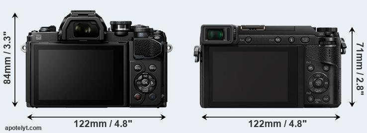 E-M10 III and GX85 rear side