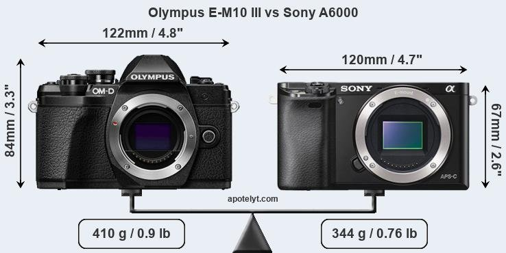 Compare Olympus E-M10 III and Sony A6000