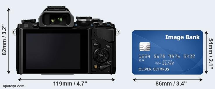 E-M10 and credit card rear side