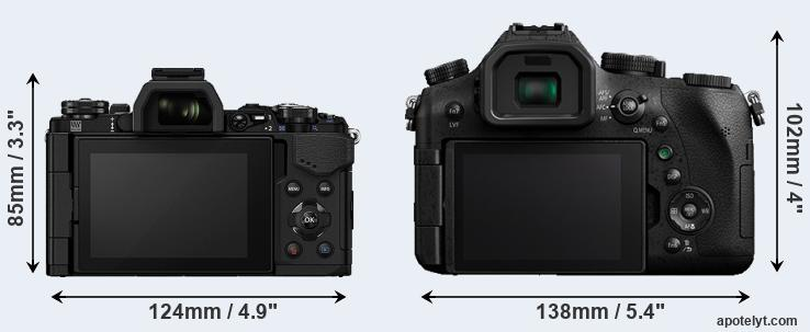 E-M5 II and FZ2000 rear side