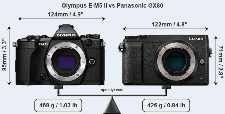 Compare Olympus E-M5 II and Panasonic GX80