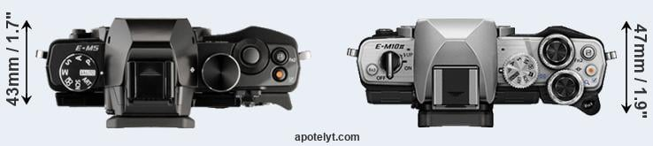 E-M5 versus E-M10 II top view