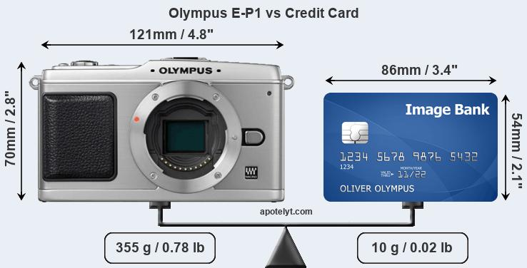 Olympus E-P1 vs credit card front