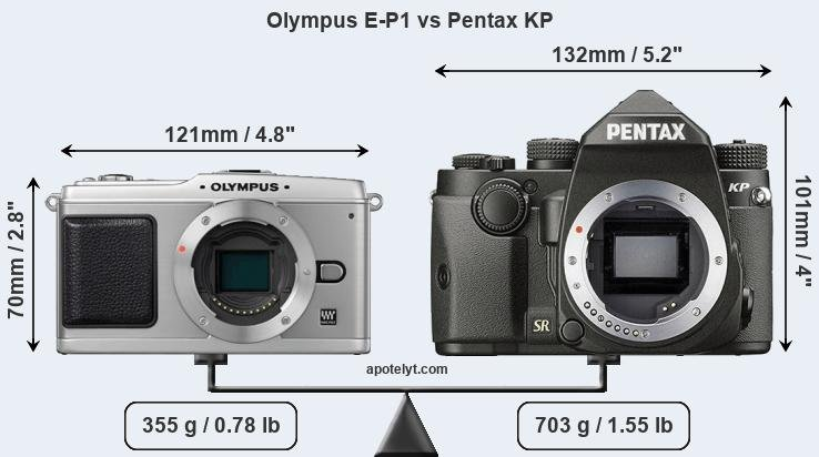 Compare Olympus E-P1 and Pentax KP