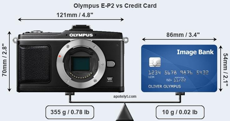 Olympus E-P2 vs credit card front