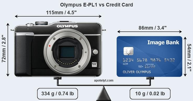 Olympus E-PL1 vs credit card front