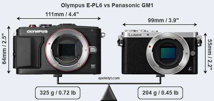 Compare Olympus E-PL6 vs Panasonic GM1
