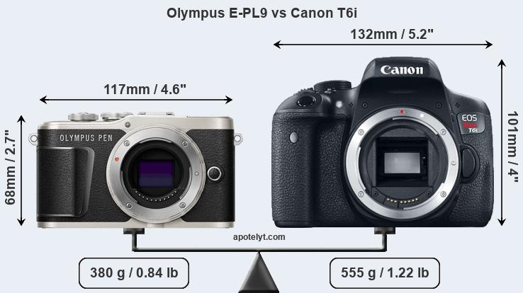 Compare Olympus E-PL9 and Canon T6i
