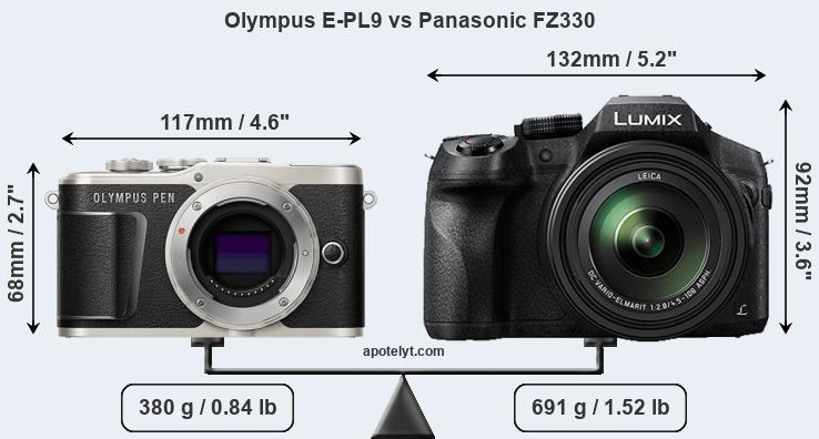 Compare Olympus E-PL9 and Panasonic FZ330